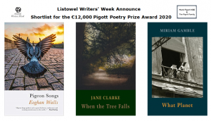 Shortlist for Pigott Poetry Prize Award 2020